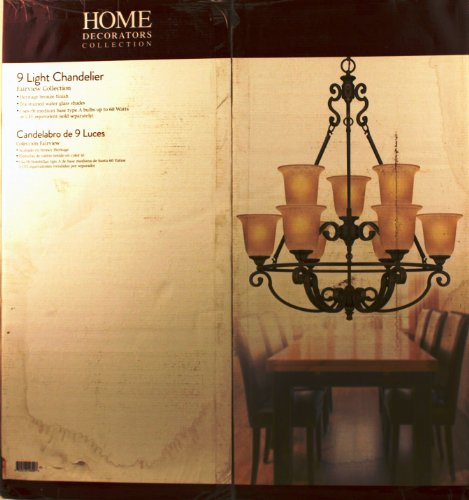 Home Decorators Collection Fairview 9-light 34 In. Heritage Bronze Chandelier
