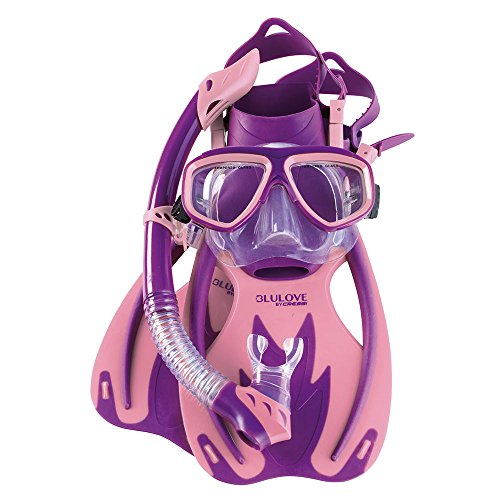 Junior Mask (Cressi Junior Rocks Mask Fin Snorkel Set (Purple Pink, Large/X-Large))