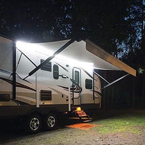 Nrpfell 12V Led Rv Awning Porch Light Ip67 Waterproof Led Light For Marine Caravan Trailer Exterior Camping Lamp Black