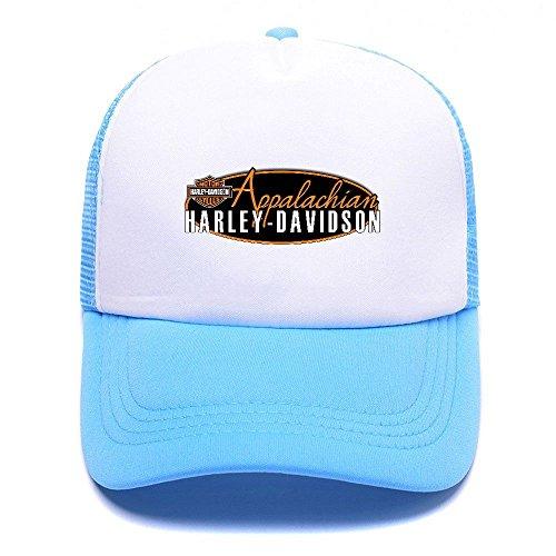 Harley D Black Baseball Caps Gorras de béisbol Trucker Hat Mesh Cap For Men Women Boy Girl 003 Sky Blue