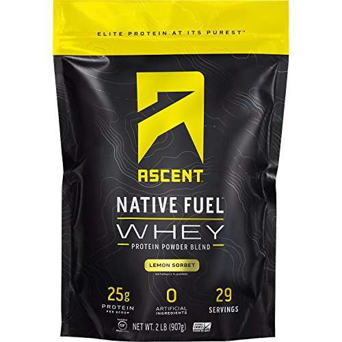 Ascent Native Fuel Whey Protein Powder - Lemon Sorbet - 2 lbs