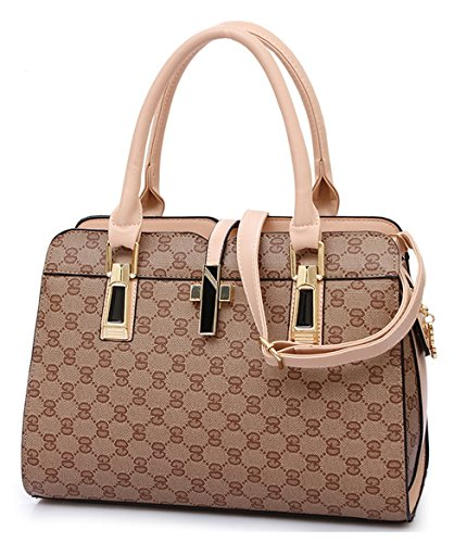 Lingren Pu Fashion Simple Style Fashion Tote Top Handle Shoulder Cross Body Bag Satchel Multicolor 1