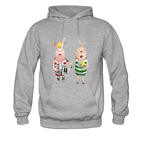 ZTANG Mens Usavich Pullover Sweater Hoodies XXXL Grey