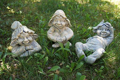 3 tlg duende de la familia en el pack de ahorro los Trolls enano de jardín Gartendeko de decoración: Amazon.es: Hogar