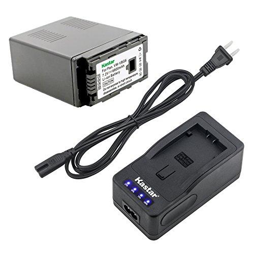 (Kastar LED Super Fast Charger & Camcorder Battery X1 for Panasonic VW-VBG6 Panasonic AG-AC160A, AG-AC7, AG-AC130A, AG-AC160A, AG-HMC40, AG-HMC70, AG-HMC150, H68, H80, H90, H258, VDR-D50, D58,)