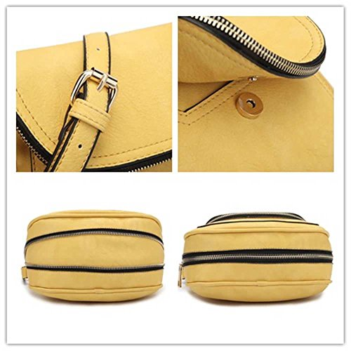 Travel Women Bag Crossbody Leather Purse Lightweight Small Saddle Red Shoulder 4w647qR