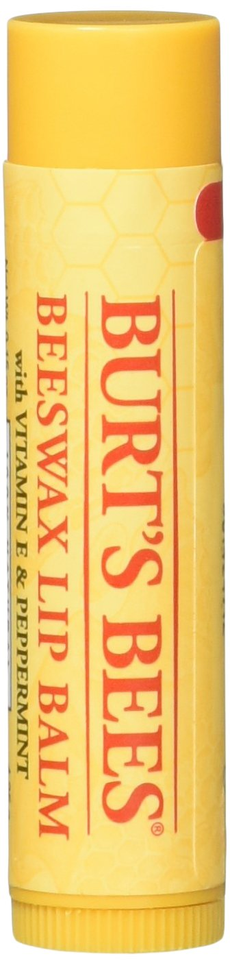 Burt's Bees Beeswax Lip Balm with Vitamin E & Peppermint 0.15 oz (Pack of 10)