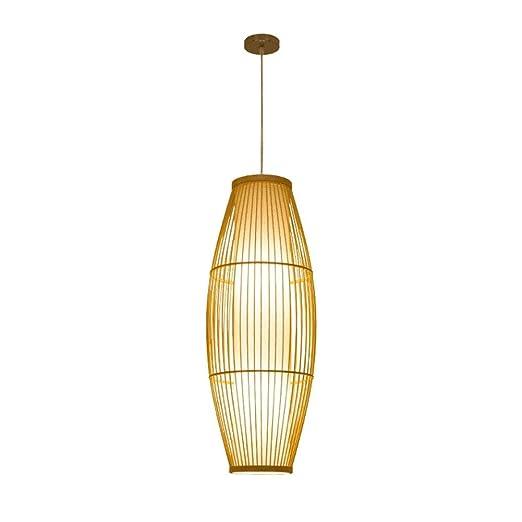 Lámpara de techo japonesa Zen de bambú para restaurante, jaula ...