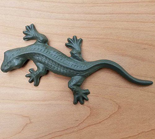Cast Iron Gecko Lizard Reptile Statue Garden Yard Decor