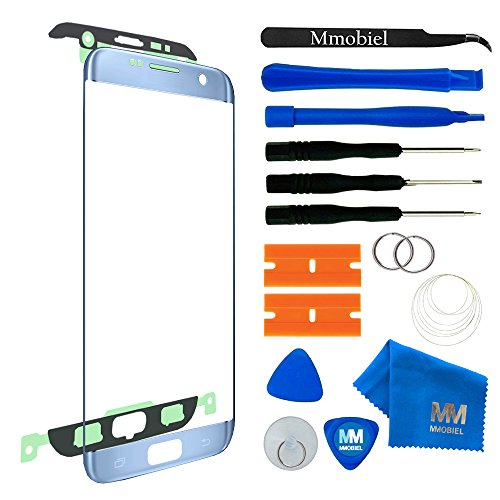 MMOBIEL Front Glass for Samsung Galaxy S7 Edge (Blue) G935 Series ...