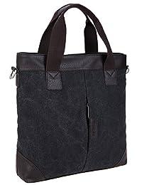 Leaper Stylish Canvas Shoulder Bag Messenger Bag Handbag Tote Bag Purse Black
