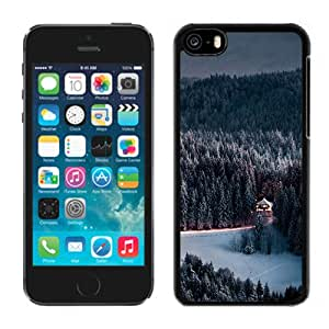 Winter Snow Forest Chalet Retreat Durable High Quality iPhone 5C Phone Case