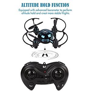 Mini RC Helicopter est Headless Mode 2.4Ghz LED RC Quadcopter Altitude Hold Mini Pocket Drone Good Choice for Drone Training ( Not Including Camera ) from VANDORA