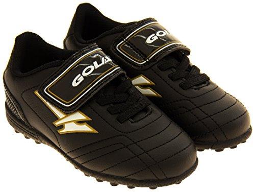 Footwear Studio - Botas de fútbol para niño negro negro Negro y Oro