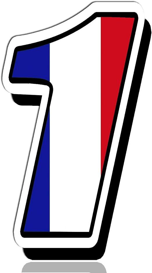 Biomar Labs Startnummer Nummern Auto Moto Vinyl Aufkleber Frankreich France Nationalflagge Flagge Sticker Motorrad Motocross Motorsport Racing Nummer Tuning 1 N 241 Auto