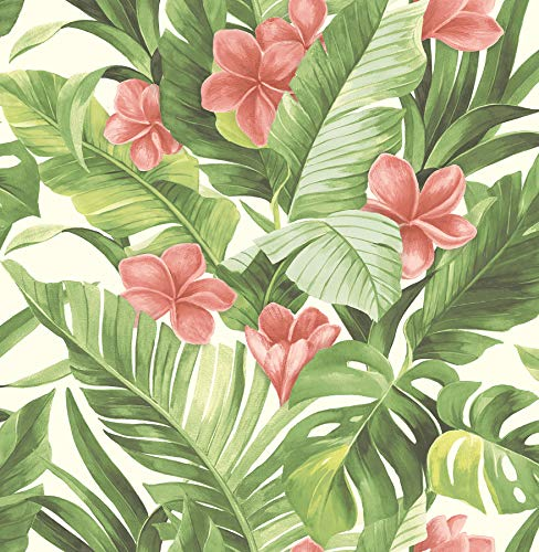 - NuWallpaper NU2926 Tropical Paradise Peel & Stick Wallpaper, Multi-Color