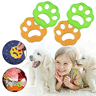 LIUMY Pet Hair Remover for Laundry, Dog Hair Remover for Laundry, Lint Catcher for Washing Machine, Laundry Lint and Fur Remover, 4Pcs Non-Toxic Reusable for Washing Machine, Dryer, Clothes, Bedding