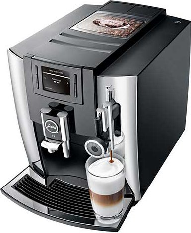 Jura E8 Automatic Coffee Machine, Chrome