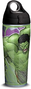 Tervis Marvel - Hulk Insulated Tumbler, 24oz Water Bottle - Stainless Steel, Iconic
