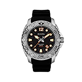 Bulova Men's Black Dial Watch