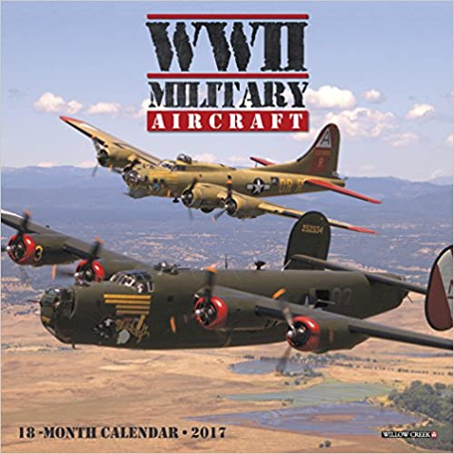 2017 WWII Military Aircraft Mini Wall Calendar