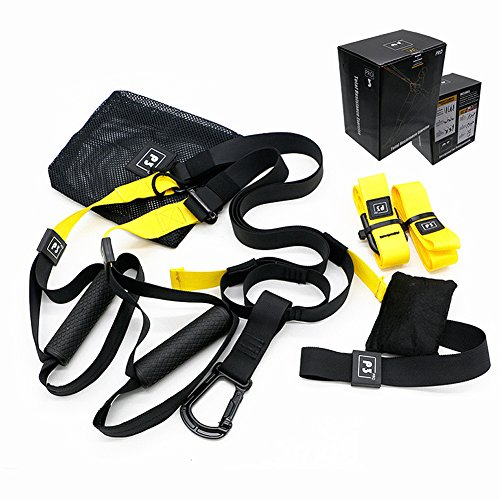 Sports Camp Training Soccer Dvd (iOtO Training - Suspension Trainer Basic Kit + Door Anchor,Resistance Home Gym Fitness Training, Complete Full Body Workouts Kit for Home and on the Road)