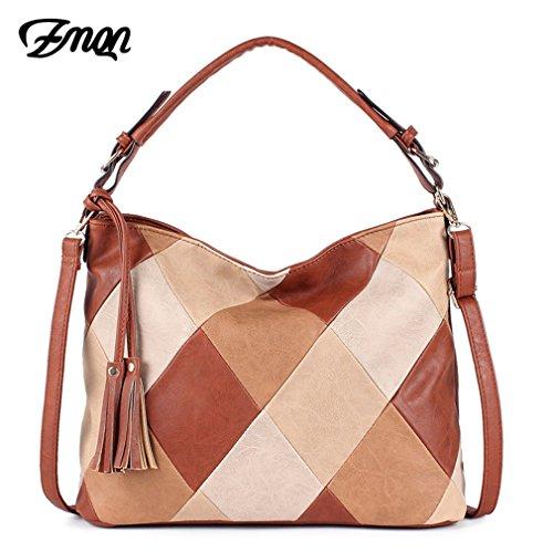 Easygill Women Bag NEW Patchwork Handbags PU Leather Hobo Shoulder Bags