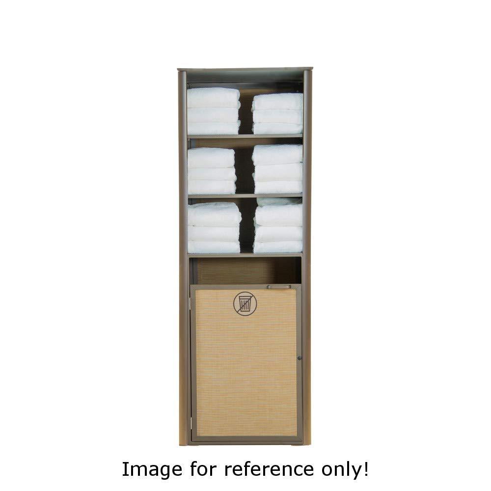 Grosfillex US170289 Sunset Towel Valet Laundry Housekeeping Cabinet, Single Unit, 24''W x 25''D x 70''H, Platinum Gray