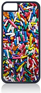 Colorful Sprinkles- Case for the Apple Iphone 4s-Hard Black Plastic Outer Shell with Inner Soft Black Rubber Lining