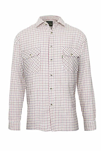 Champion - Chemise manches longues à carreaux Tattersall, style casual champêtre, pour homme -  rouge - XXL