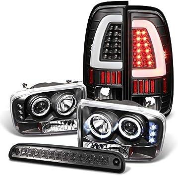 1997-2003 FORD F250 F350 F450 F550 SUPER DUTY LED TAIL LIGHT BAR LIGHTBAR CHROME