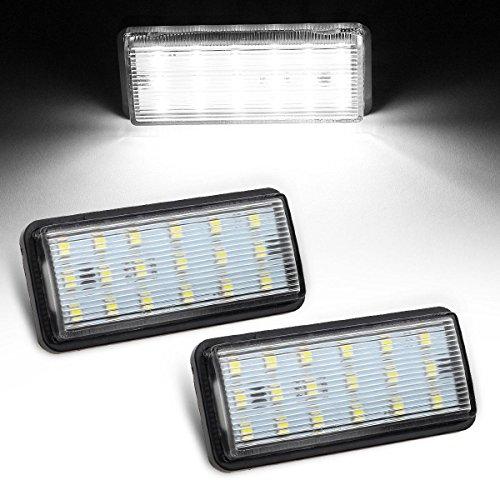 Partsam 2pcs White 6000K 18-SMD 12V LED License