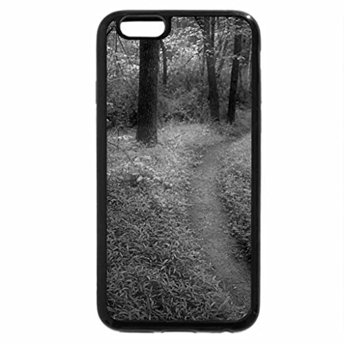 iPhone 6S Case, iPhone 6 Case (Black & White) - Green Woods