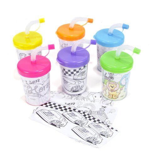 Color Your Own Sipper Cup 8 Ounce