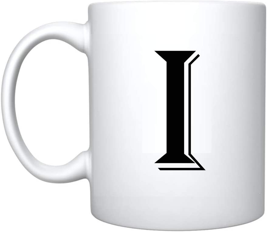 A iTRONiK Alphabet Mug Letter Mugs Initial Coffee Cup Birthday Fathers Day