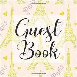 Eiffel Tower Paris Wedding Guest Book or Photo Album