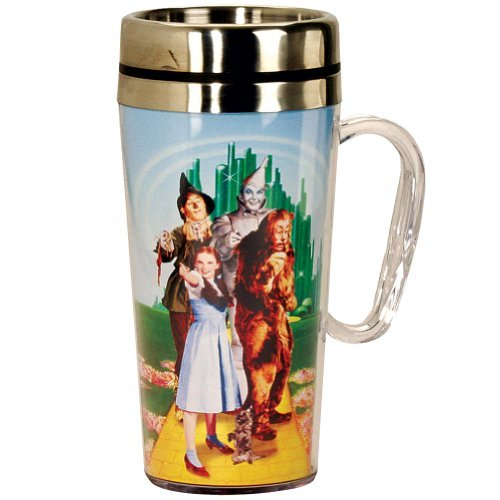 Wizard of Oz Cast Travel Mug with Handle - Dorothy Tin Man Lion Scarecrow by ()