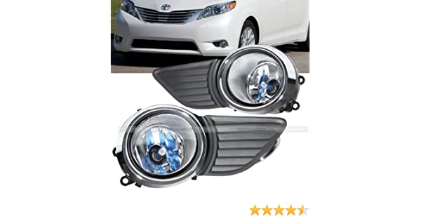 Amazon.com: 11-14 Toyota Sienna LE / XLE OE Style Clear Fog Lights Lamp Kit: Automotive