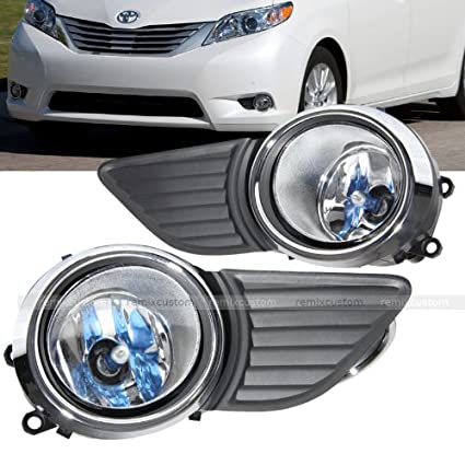Amazon.com: 11-14 Toyota Sienna LE / XLE OE Style Clear Fog Lights Lamp Kit: Automotive