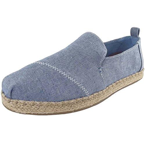 Toms Women's Alpargata Casual Shoe Blue Slub Chambray (8.5)