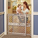 North States 42' Wide Supergate Ergo Baby Gate: Easy-fit and Adjustable. Pressure or Hardware Mount (mounts Included). Fits 26'-42' Wide (26' Tall, Sand)