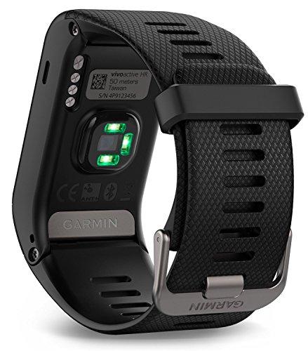 Garmin Vívoactive HR GPS Smart Watch, Regular fit Black (Certified Refurbished)