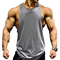 0085cd161e5a0 Magiftbox Mens Gym Tank Tops Muscle Cut Stringer Bodybuilding Workout  Sleeveless Gym Shirts