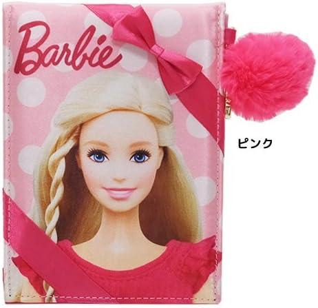 Barbie バービー[手鏡]折りたたみミラー/ファーチャーム付きサテンシリーズ 【ピンク 】