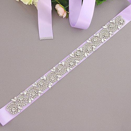 Ghigliottina Rhinestones Delle S164 Donne Ulapan Diamanti Sposa Cinghia Del Lavanda Sposa Vestito Cintura Da Fusciacca Da 0wxYwXq4g