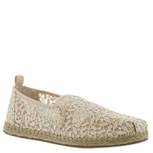 TOMS Womens Deconstructed Alpargata Casual Shoe Natural Lace Leaves xb3M4N6zg