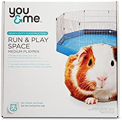 You & Me Run & Play Space Small Animal Playpen, Medium, Blue
