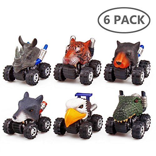 Back Animal - Animal Toys,Toddler Toys For Boys And Girls 6 Pack Toys Cars Creative toys With Packing Box