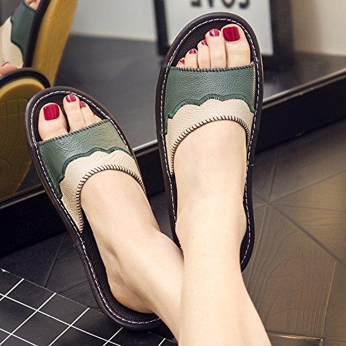 multi fresco verde fankou femmina 38 e estate colore anti pantofole rimanere 39 maschio interno nero scivolo Pantofole pianale per wZpPfZqOx