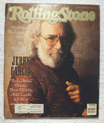 Jerry Garcia - The Rolling Stone Interview - Grateful Dead - Rolling Stone Magazine - #566 - November 30, 1989 - The Drug Problem, Paula Abdul, Milli Vanilli articles